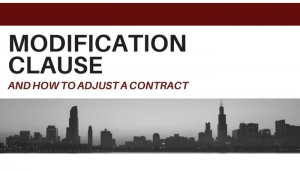 Chicago legal advice contract law