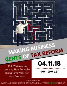 Jackson Corporate Law Tax Reform Webinar