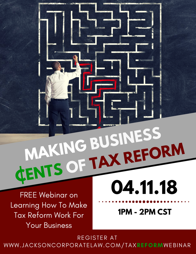 Jackson Corporate Law Tax Reform Webinar